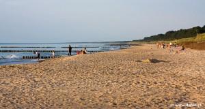 Dąbkowice - widok na plażę