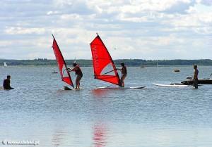 Dąbkowice windsurfing na jeziorze Bukowo
